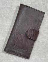 Womens Wallet | Genuine Leather -  Textured Dark Brown | Handmade in Kenya