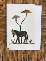 Greeting Card | Zebra | Banana Bark