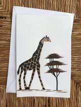 Greeting Card | Giraffe | Banana Bark