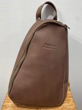 Cross Body Backpack - Brown   Genuine Leather   Handmade in Kenya