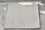 Modern Bedside Rug | White | 100% Wool | 22' x 28' | Handmade in Kenya