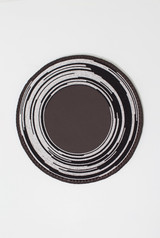 Beaded Wall Art | White & Black | Placemat |