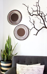 Beaded Wall Art | White & Silver | Placemat |