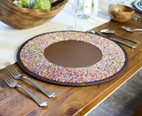 Beaded Wall Art | Multicolour Dots | Placemat |
