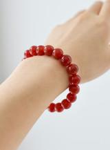 Gemstone Beaded Bracelet ~ Carnelian   Handmade in Victoria