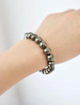 Gemstone Beaded Bracelet ~ Pyrite   Handmade in Victoria