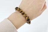 Gemstone Beaded Bracelet ~ Tigers Eye   Handmade in Victoria