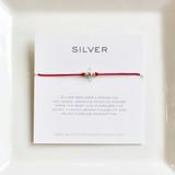 3 Wish Bracelet ~ Silver   Orange   Handmade in Victoria