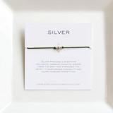 3 Wish Bracelet ~ Silver   Forest Green   Handmade in Victoria