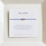 3 Wish Bracelet ~ Silver   Baby Blue   Handmade in Victoria