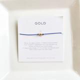 3 Wish Bracelet ~ Gold   Baby Blue   Handmade in Victoria