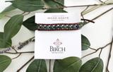 Gemstone Single Wrap Men's Bracelet   Moss Agate   Handmade in Victoria