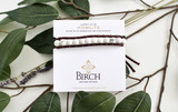 Gemstone Single Wrap Men's Bracelet   Howlite   Handmade in Victoria