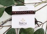 Gemstone Single Wrap Men's Bracelet   Red Tiger's Eye   Handmade in Victoria