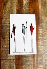 Greeting Card | 3 Masai | Masai Blanket