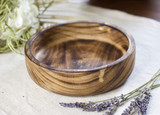 Smooth Edge Small Plate | Round With Squared Corners | Jacaranda Wood | Handcrafted in Kenya