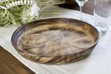Smooth Edge Platter | Round | Jacaranda Wood | Handcrafted in Kenya
