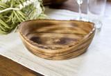 Rustic Live Edge Plate | Round | Medium | Jacaranda Wood | Handcrafted in Kenya