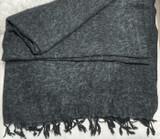 Nepalese Blanket Scarf/Throw/Oversized Shawl | Yak Wool | Black & Grey | Handmade in Nepal