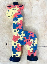Giraffe Alphabet Puzzle | Double Sided | Made in Sri Lanka