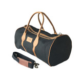 Travel - Weekender Duffle Bag | Red Canvas - Black Leather Trim | Medium/Small
