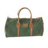 Travel - Weekender Duffle Bag | Olive Green Canvas - Tan Leather Trim | Medium/Small