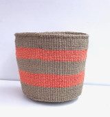 Kiondo Basket - Brown & Orange Stripes | Medium - 10"