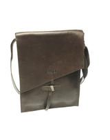 Genuine Leather Satchel/Messenger/Briefcase for Women   Dark Brown   Handmade in Kenya