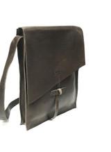 Genuine Leather Satchel/Messenger/Briefcase for Women | Dark Brown | Handmade in Kenya