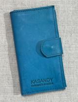 Genuine Leather Handmade Wallet - Turquoise Blue | Handmade in Kenya