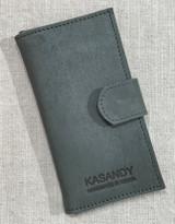 Womens Wallet | Genuine Leather - Grey | Handmade in Kenya