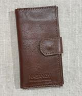 Womens Wallet | Genuine Leather - Dark Tan Brown | Handmade in Kenya