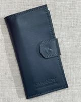 Womens Wallet | Genuine Leather - Dark Blue | Handmade in Kenya