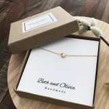 Gold Charm Necklace - Mini Heart   Beth & Olivia   Handmade in Canada