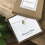 Gold Charm Necklace - Clover   Beth & Olivia   Handmade in Canada
