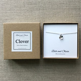 Silver Charm Necklace - Clover | Beth & Olivia | Handmade in Canada