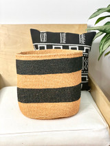 Kiondo Basket - Brown With Two Black Stripes | 12"