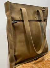 Genuine Leather Satchel/Messenger/Briefcase for Women | Textured Olive Green | Handmade in Kenya