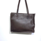 Genuine Leather Tote/Laptop Bag/Briefcase for Women | Dark Brown | Handmade in Kenya