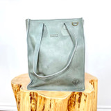 Genuine Leather Satchel/Laptop Bag/Briefcase for Women | Steel Grey | 12x15 | Handmade in Kenya
