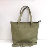 Genuine Leather Tote Bag | Olive Green | Handmade in Kenya