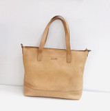 Genuine Leather Tote Bag | Tan | Handmade in Kenya