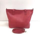 Genuine Leather Tote Bag   Plum   Handmade in Kenya