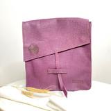 Genuine Leather Satchel/Messenger Bag   Plum   Unisex   Handmade in Kenya