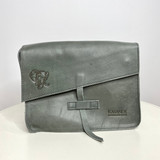 Genuine Leather Satchel/Messenger Bag - Small   Grey   Unisex   Handmade in Kenya