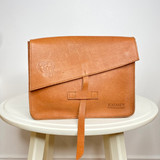 Genuine Leather Satchel/Messenger Bag - Small   Textured Brown   Unisex   Handmade in Kenya