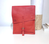 "Leather Satchel - 14"" - Red 