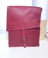 "Leather Satchel - 14"" - Plum | Genuine Leather | Unisex | Handmade in Kenya"