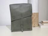 "Leather Satchel - 14"" - Light Grey   Genuine Leather   Unisex   Handmade in Kenya"