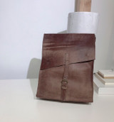 "Leather Satchel - 14"" - Ragged Brown 